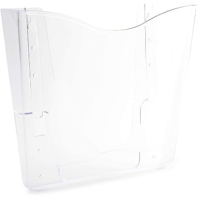 Juvale 4-Pack Clear Plastic Hanging Wall File Organizer, A6 Size (5.35 x 7.25 x 2.7 in)