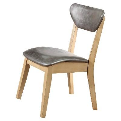 Set Of 2 Rosetta Side Metal Dining Chair Antique Beige Acme Furniture Target