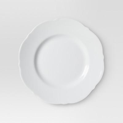 Scallop Ceramic Salad Plates White - 8.7 x8.7  Set of 4 - Threshold™
