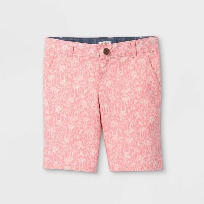Boys' Flat Front Chino Shorts - Cat & Jack™ Light Pink
