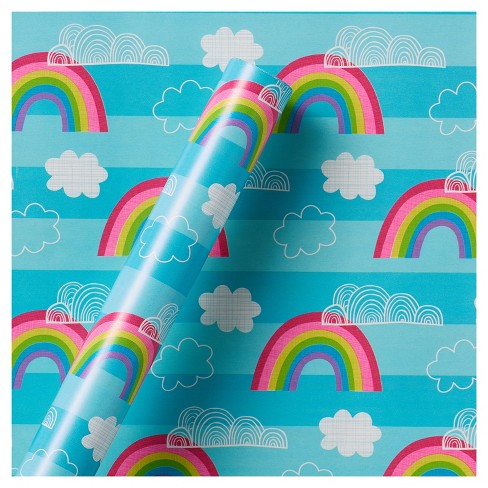 Rainbow & Cloud Roll Wrap - Spritz™ - image 1 of 1