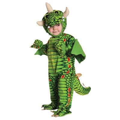Toddler Dragon Halloween Costume Green 18-24M