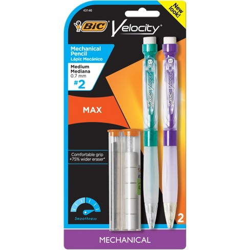 BIC Velocity Max Mechanical Pencil with Large Easer and Refills 0.7 mm Medium Point 2ct - image 1 of 4
