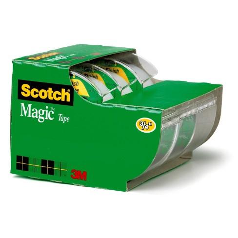 """Scotch 3pk Magic Tape 3/4"""" x 350"""" - image 1 of 4"""