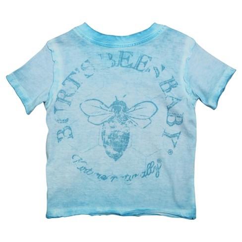 ae45f7ad9 Burt s Bees Baby Infant Boys  Logo T-Shirt - Blue   Target