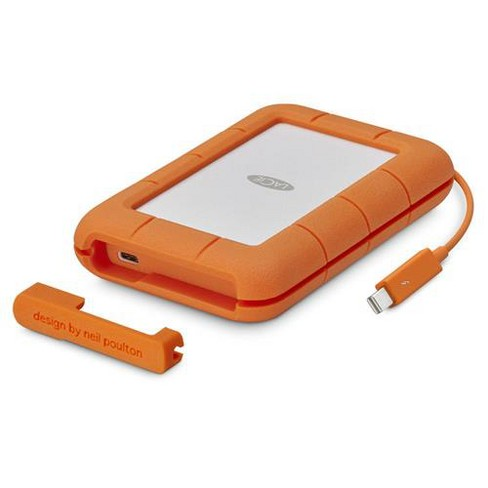 Lacie 2tb Rugged Thunderbolt Usb C Mobile External Hard Drive 130mb S Transfer Rate Target