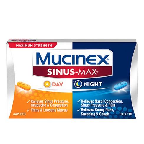 Mucinex Sinus-Max Day & Night Caplets - Acetaminophen - 20ct - image 1 of 4