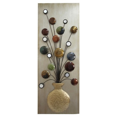Wall Decor-Pot with Mirrors-L - Home Source
