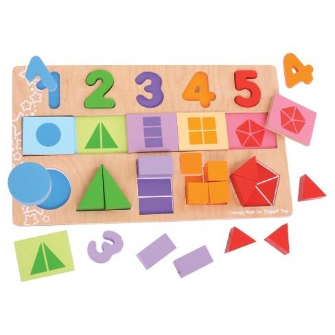 Bigjigs Toys My First Fractions Wooden Educational Toy - image 1 of 2