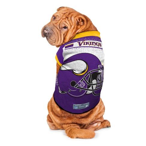 da6963028 Minnesota Vikings Little Earth Pet Performance Football T-Shirt - Purple L  : Target