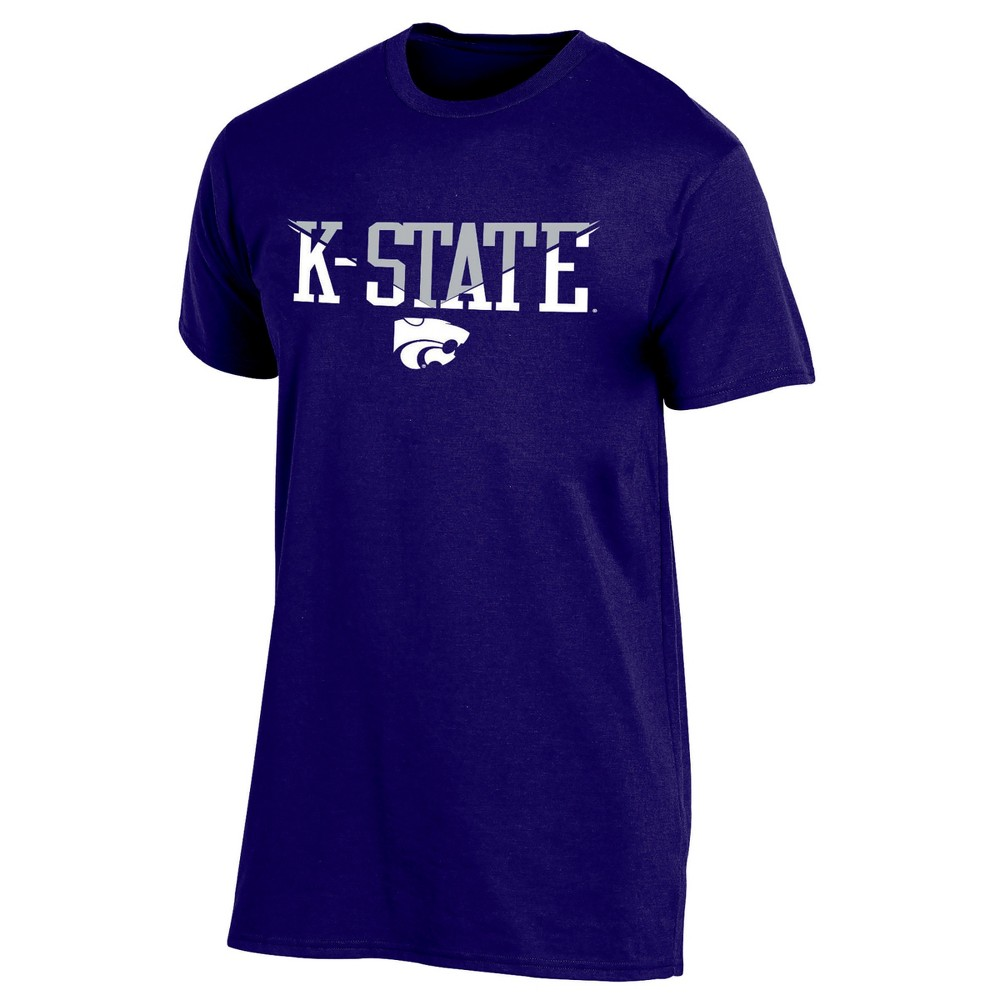 Kansas State Wildcats Men's Short Sleeve Core Wordmark T-Shirt - S, Multicolored