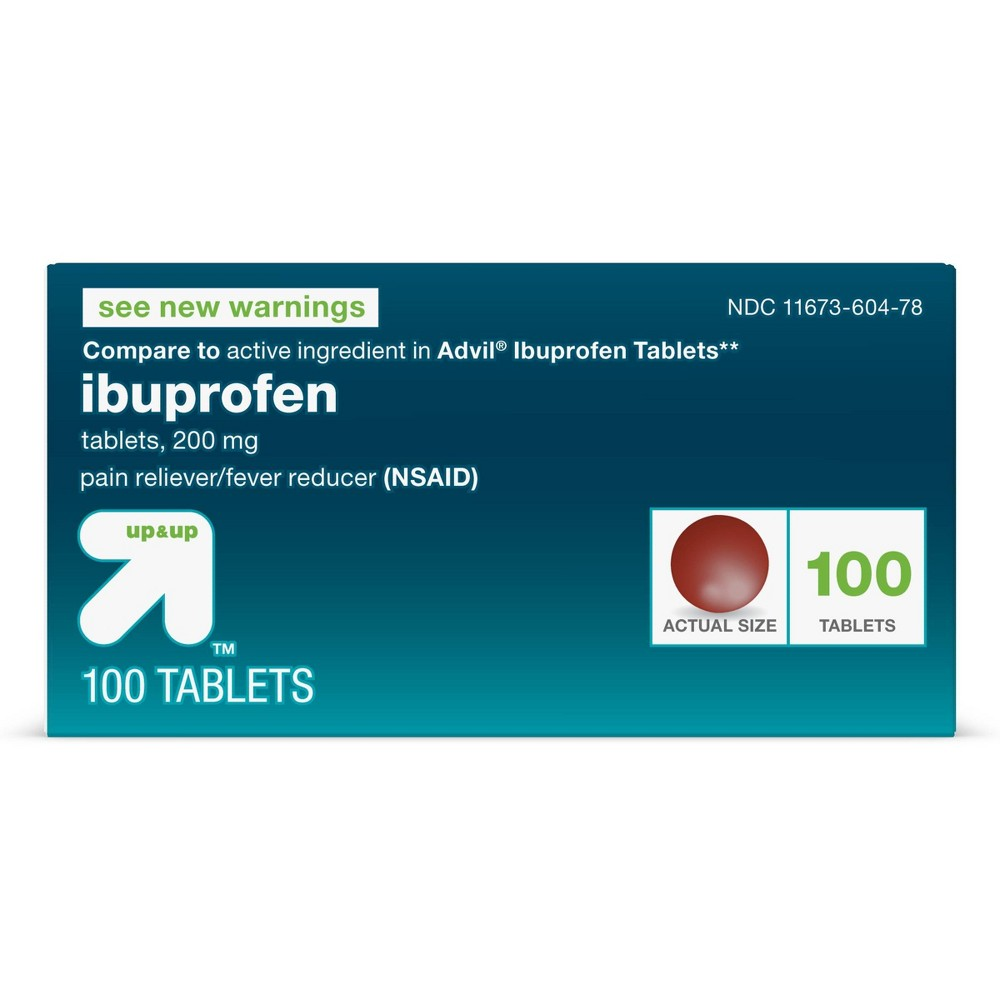 Ibuprofen Nsaid Pain Reliever 38 Fever Reducer Tablets 100ct Up 38 Up 8482