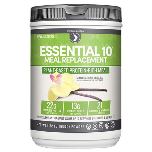 Designer Protein Essential 10 Madagascar Protein Powder - Vanilla - 19.36oz - image 1 of 1