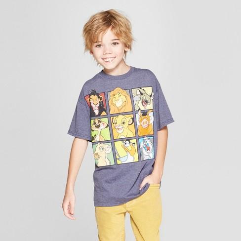 79dab79e6 Boys' Disney Lion King Short Sleeve Graphic T-Shirt - Denim Heather : Target