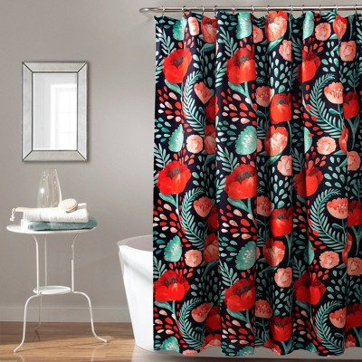 Poppy Garden Shower Curtain - Lush Décor