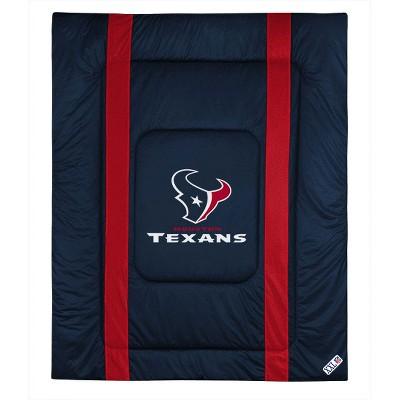 NFL Twin Comforter Sidelines Football Bed - Houston Texans..