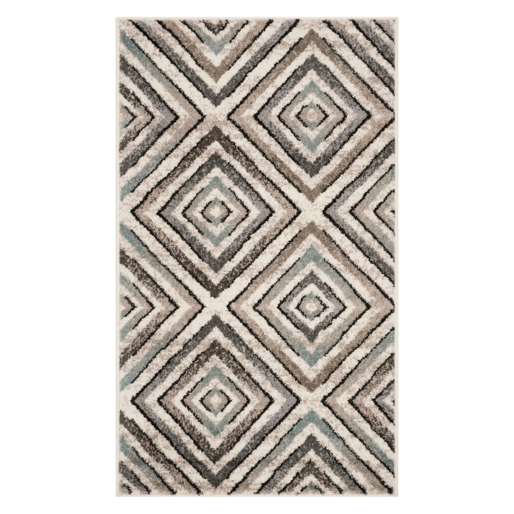 3X5 Geometric Loomed Accent Rug Cream/Beige - Safavieh Buy
