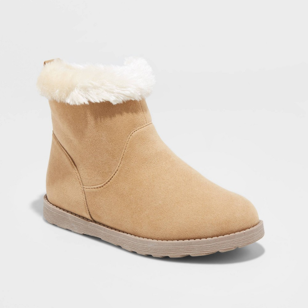 Image of Girls' Haiden Shearling Boots - Cat & Jack Tan 13, Toddler Girl's