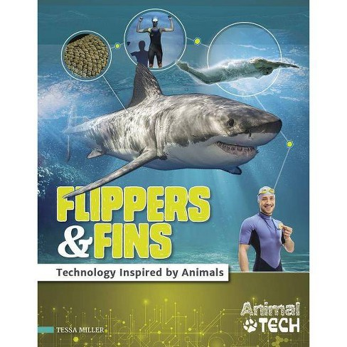 Flippers & Fins - (Animal Tech) by  Tessa Miller (Hardcover) - image 1 of 1