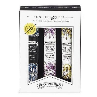 10ml 3pk Toilet Spray Lavender Vanilla, Royal Flush, Original Citrus - PooPourri
