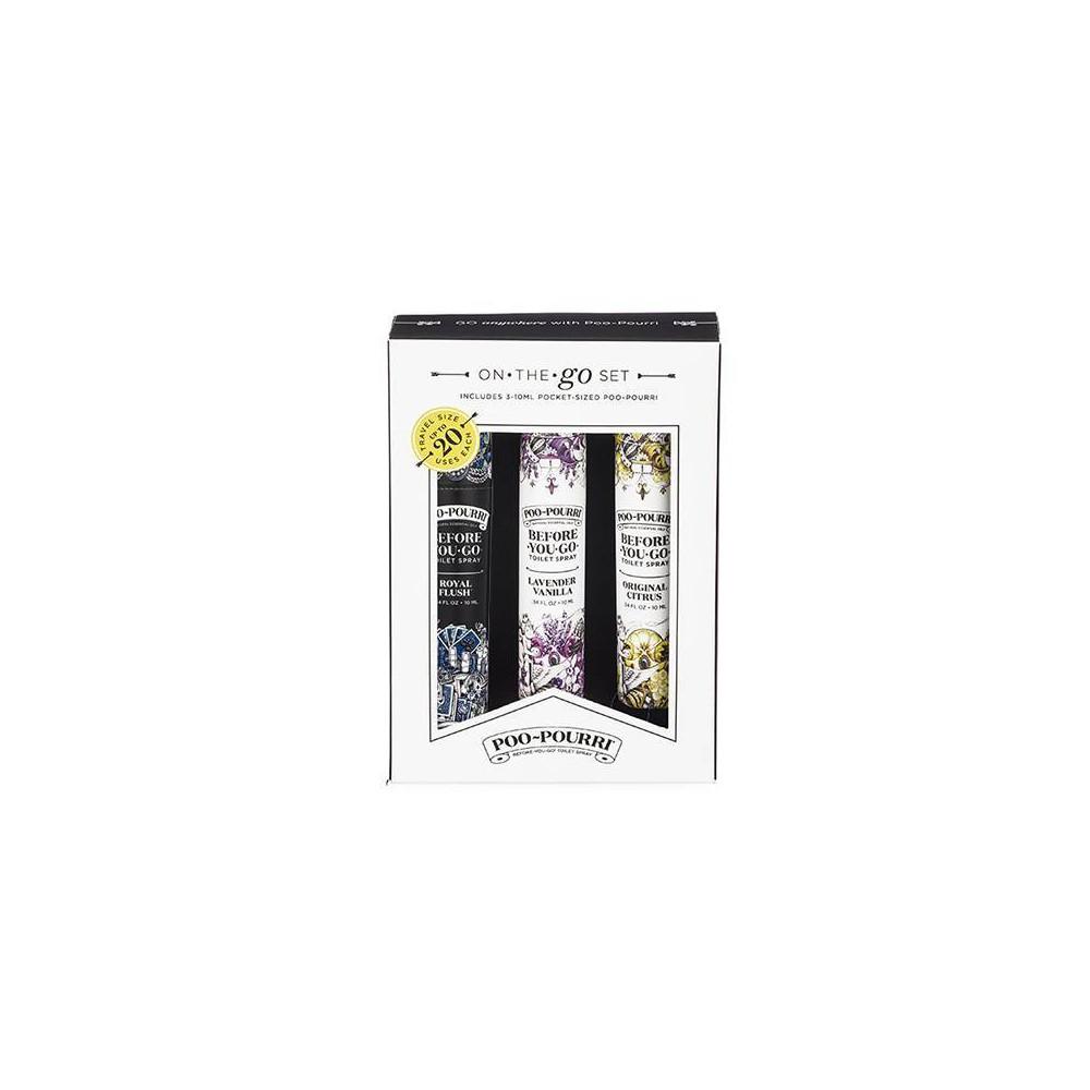 Image of 10ml 3pk Toilet Spray Lavender Vanilla, Royal Flush, Original Citrus - PooPourri