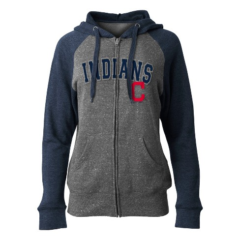 MLB Cleveland Indians Women's On Deck Full Zip Hoodie - image 1 of 1