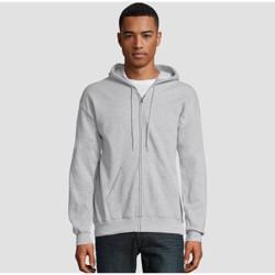 Hanes Men's EcoSmart Fleece Full Zip Hooded Sweatshirt