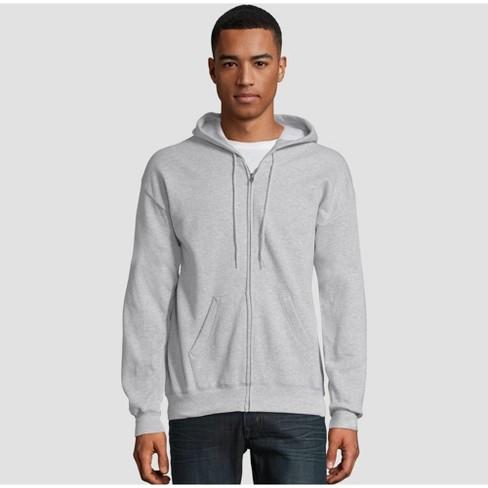 Hanes Men's EcoSmart Fleece Full Zip Hooded Sweatshirt - image 1 of 3