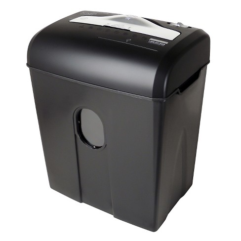 Aurora High Security 8 Sheet Paper/CD Shredder with Wastebasket Black - AU820MA - image 1 of 4