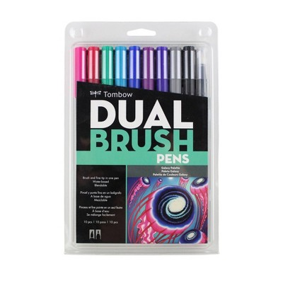 Tombow 10ct Dual Brush Pen Art Markers - Galaxy