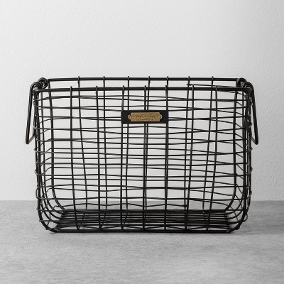 Medium Wire Storage Basket Black - Hearth & Hand™ with Magnolia