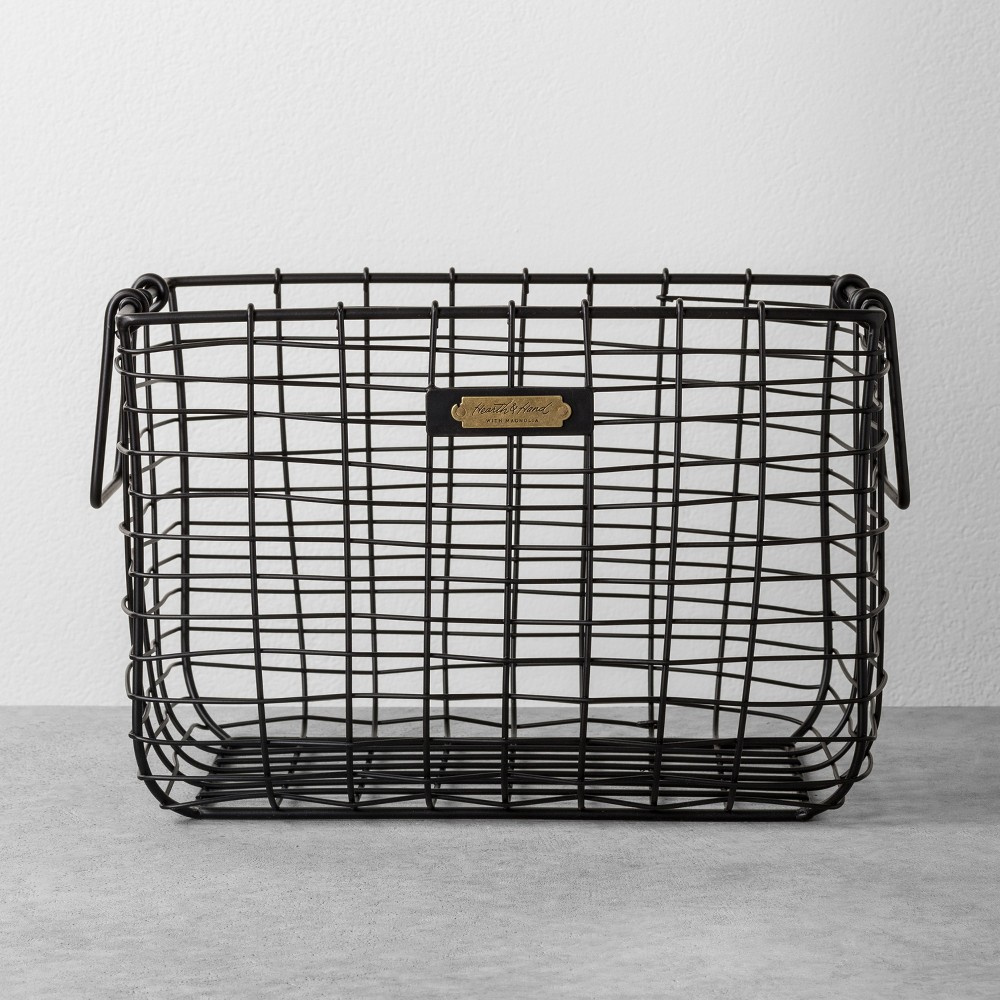 Image of Wire Bin Large Black - Hearth & Hand with Magnolia