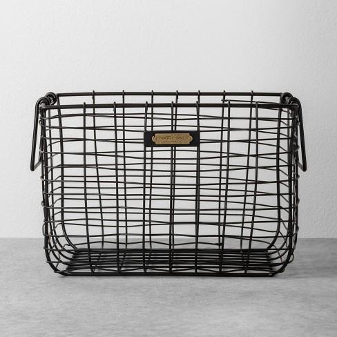 Medium Wire Storage Basket Black