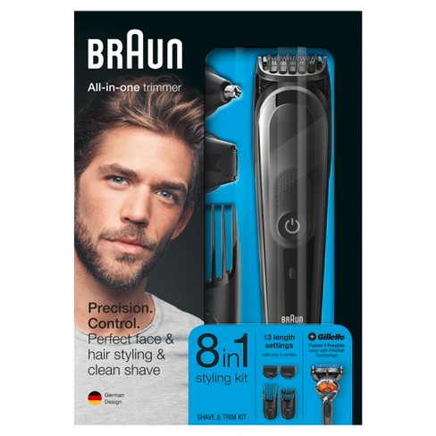 Braun Mgk3060 8 In 1 Men S Rechargeable Electric Grooming Kit Target