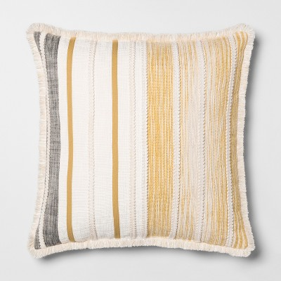 Patched Oversize Square Throw Pillow Yellow - Opalhouse™