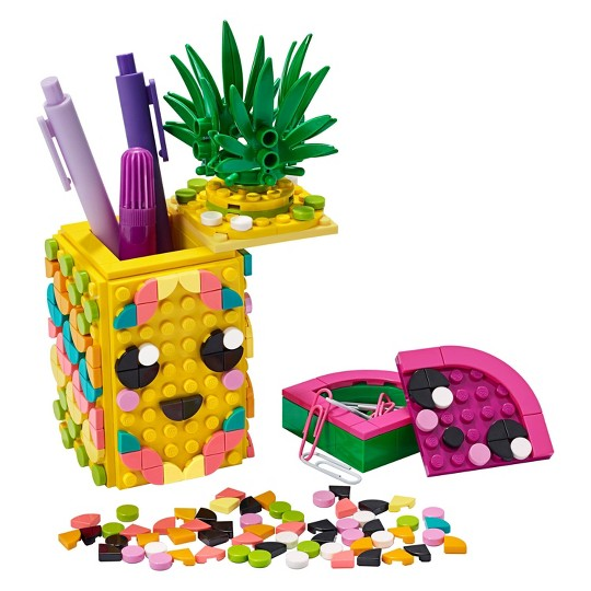 LEGO DOTS Pineapple Pencil Holder Cool DIY Craft Decorations Toy Kit 41906 image number null