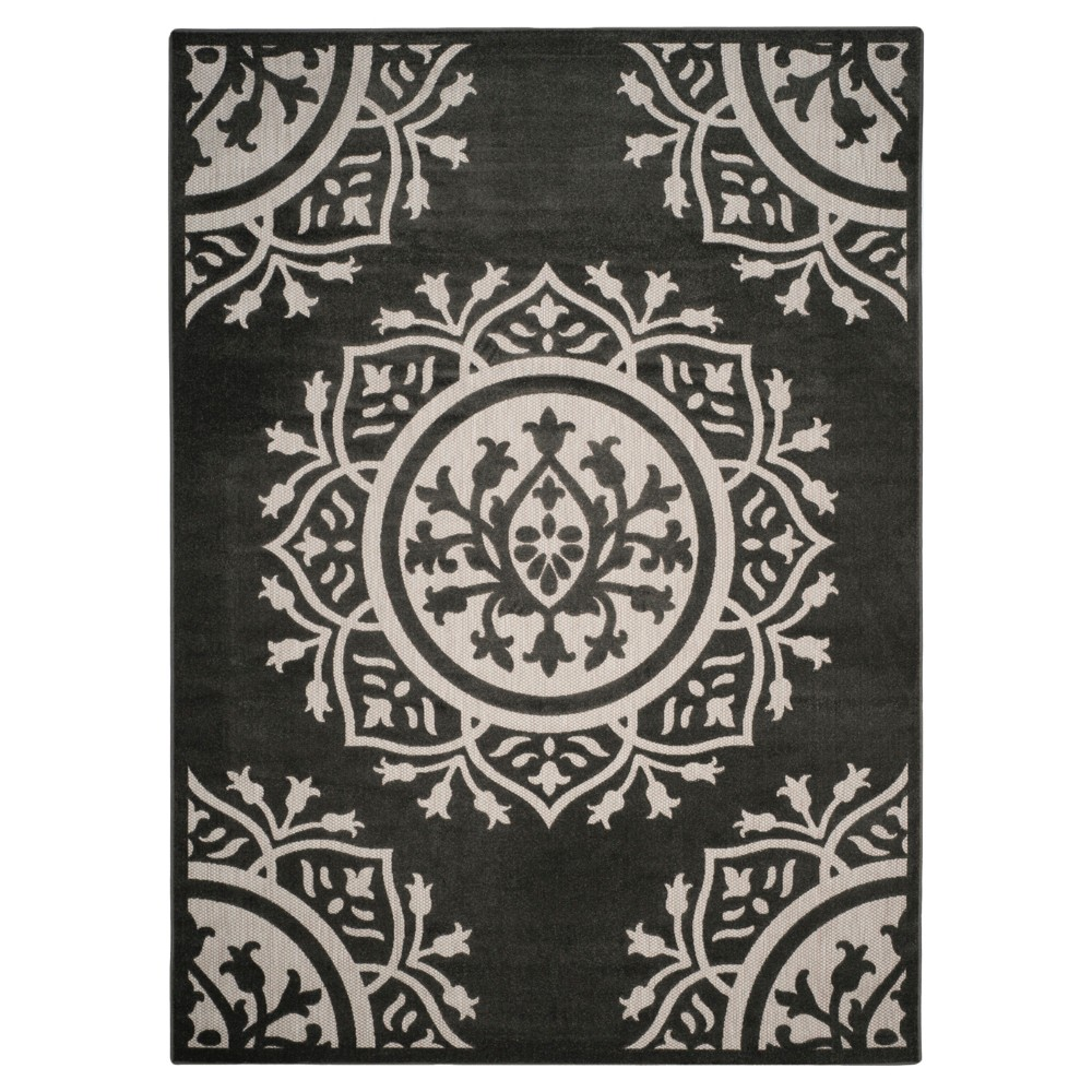 Charcoal/Cream (Grey/Ivory) Abstract Loomed Area Rug - (8'X11'2) - Safavieh