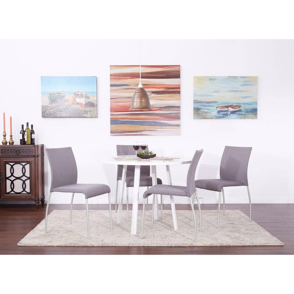 Image of 2pk Conway Stacking Chair Smoke - OSP Home Furnishings