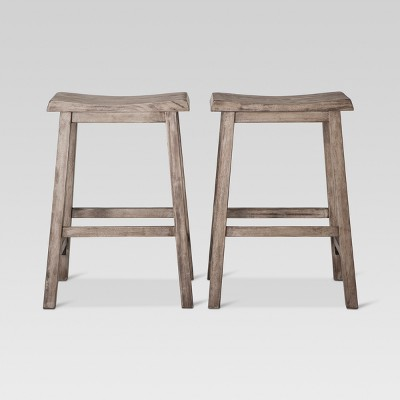 "2pk 24"" Trenton Counter Height Barstool Dark Gray Wash - Threshold™"