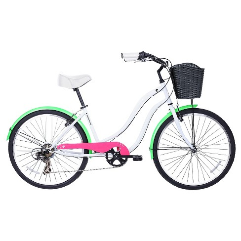 "Gama Bikes Women's Cruiser 26"" 7-Speed Urban Hybrid Commuter - Fluor - image 1 of 2"
