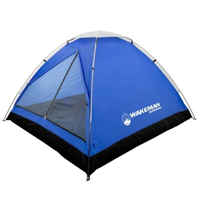 Wakeman 2-Person Water Resistant Dome Tent - Blue/Gray