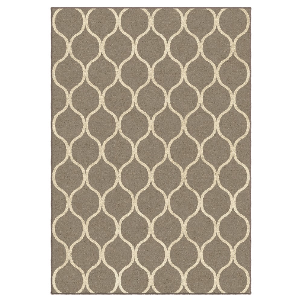Silver Solid Woven Area Rug - (7'10