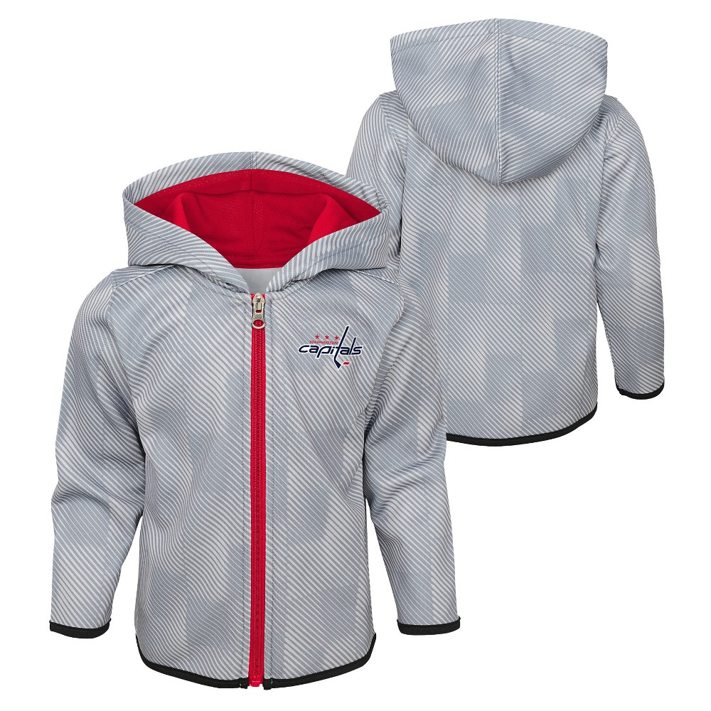 Washington Capitals Toddler Shootout Full Zip Hoodie 4T, Toddler Boy's, Multicolored