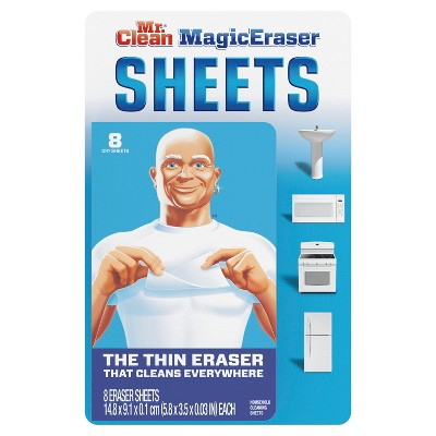 Mr Clean Magic Eraser Cleaning Flexible and Disposable Sheets Multi Purpose Cleaner - 8ct