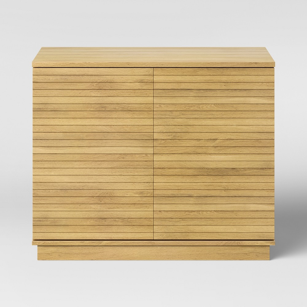 Cliffmay Slat Storage Cabinet Brown - Project 62