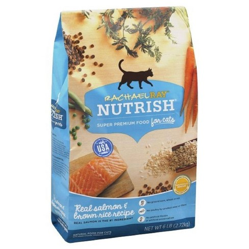 Rachael Ray Nutrish Natural Salmon & Brown Rice Dry Cat Food - 6lbs - image 1 of 4