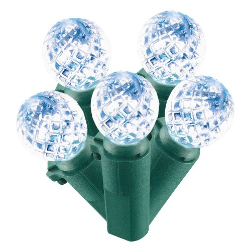 Christmas Led String Lights.Philips 60ct Christmas Led Faceted Sphere String Lights Cool White Gw