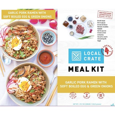 Local Crate Garlic Pork Ramen Meal Kit - Serves 2 - 39.5oz