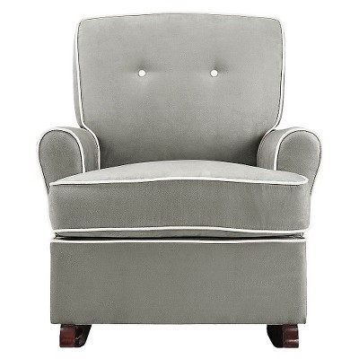 Lora Upholstered Glider Gray - Baby Relax