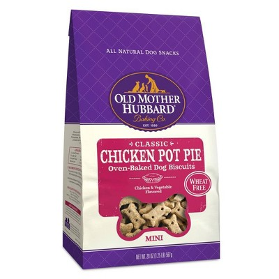Old Mother Hubbard Wheat Free Classic Crunchy Chicken Pot Pie Biscuits Mini oven Baked Dog Treats